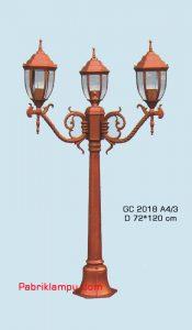 Jual lampu hias taman model tangan 2 tangkai GC 2018 A4/3