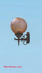 Lampu Hias Dinding Model Bulat Cokelat GC 208 C 25cm TS