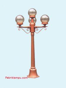 Lampu Hias Taman Model Bulat 3 Tangkai GC 228 A7/3+1 15cm T