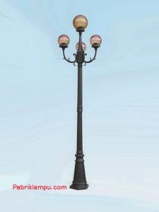 Lampu Hias Taman Model Tangan atas 3 tangkaiGC 248 B2/3 15cm + 1-20 CL