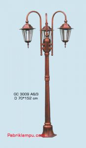 Jual lampu taman hias model tangan 3 tangkai GC 3009 A6/3
