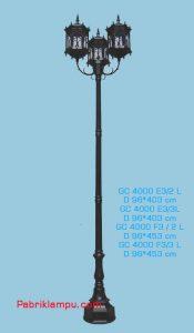 Harga lampu taman gaya eropa GC 4000 E3/2 L