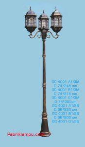 Jual lampu taman unik model eropa 3 tangkai GC 4001 A1/3M