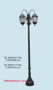 Jual lampu taman hias model tangan 3 tangkai GC 4004 E11/3L