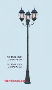 Jual lampu Hias taman model Tangan 3 tangkai GC 4004 L3/2L