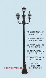 Jual lampu hias taman model tangan 3 tangkai GC 4007 A2/3+1S