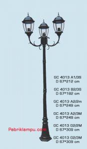 LAmpu hias taman model tangan 2 tangkai GC 4013 A1/3S