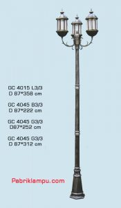Jual lampu taman hias model tangan 3 tangkai GC 4015 L3/3