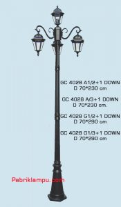 Lampu hias taman model tangan GC 4028 A1/2+1 DOWN