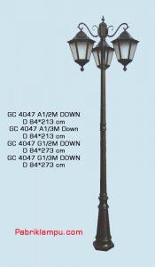 Lampu hias taman model tangan GC 4047 A1/2M DOWN