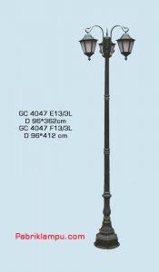 Lampu hias taman model tangan GC 4047 E13/3L
